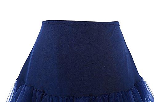 Bbonlinedress Organza Sottogonna Rockabilly Navy Gonne 50s Vintage Donna Mini CCqwWrAFgn