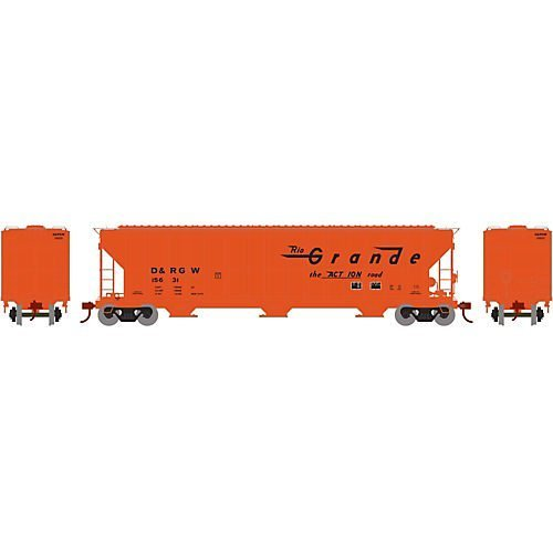 (Athearn ATH81969 HO RTR FMC Covered Hopper, D&RGW #15631)