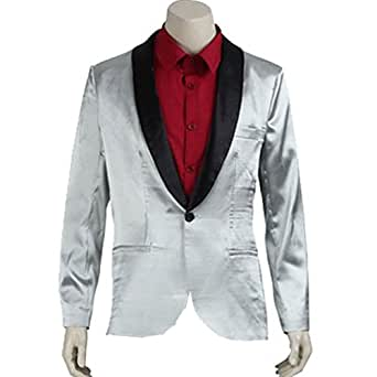 Cuterole Men Suicide Squad Joker Cosplay Costume Movie Jacket Custom