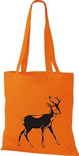 Shirtstown - Bolso de tela de algodón para mujer Naranja - naranja