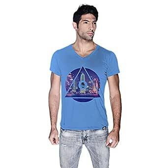 Creo Doha T-Shirt For Men - L, Blue