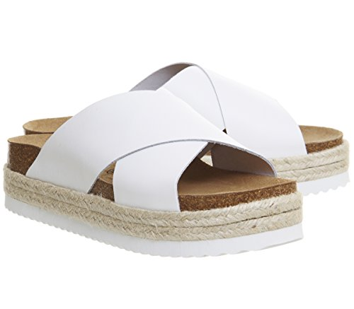 Mexico Cross White Sandals Strap Office Footbed 1gFPxwPH