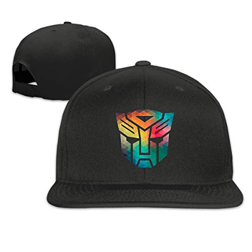 (NeedLove Transformers Optimus Prime Autobots Distressed Logo Flat Bill Snapback Adjustable B-boy Caps Black)