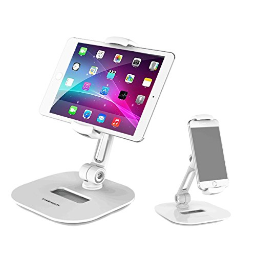 "Homeleader Stylish Aluminum Tablet Stand, iPad Stand, 360° Rotating Commercial Tablet Holder fits 4-11"" Tablets/Smartphones for iPad,iPhone,Samsung,Kindle,Cell Phone Stand by Homeleader (Image #8)"