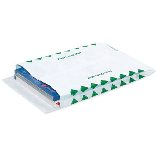 Quality Park TYE12162FC Tyvek Olefin First Class Expandable Envelope, 16