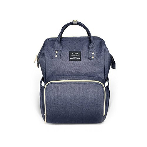 LD Diaper Bag Multi-Function Waterproof Travel Backpack Nappy Bags for Baby Care, Large Capacity, Stylish and Durable, Dark Blue by Land