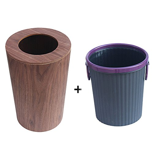 Waste bins with lids,Japanese-style Simple Wooden trash can