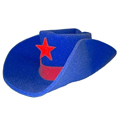 Giant BLUE Foam Cowboy Western Novelty Hat ()