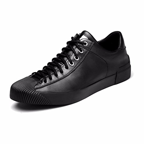 Moonwalker Men's Full Grain Leather Fashion Sneakers (9 D(M) US,Black)