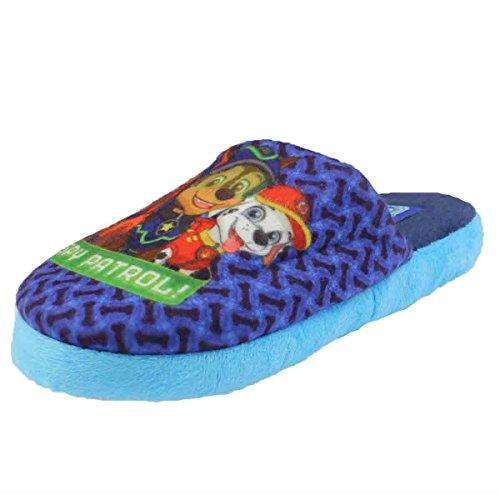 Pat Patrouille - Zapatillas de Estar Por Casa de Material Sintético Niños Azul