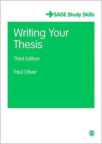 Writing your thesis paul oliver pdf