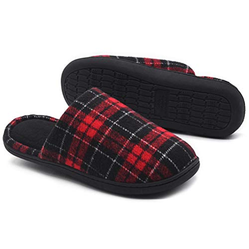 (RockDove Women's Holiday Scuff Memory Foam Slipper, X-Large, 11-12 B US, Red)
