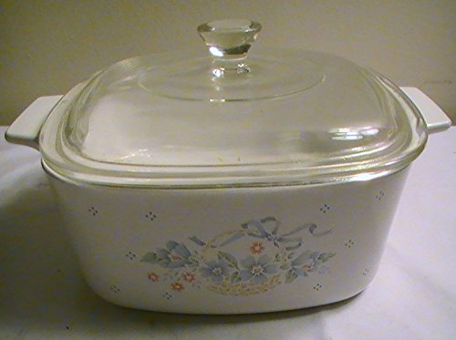 Corning Country Cornflower 1 Qt. Casserole with Glass Lid