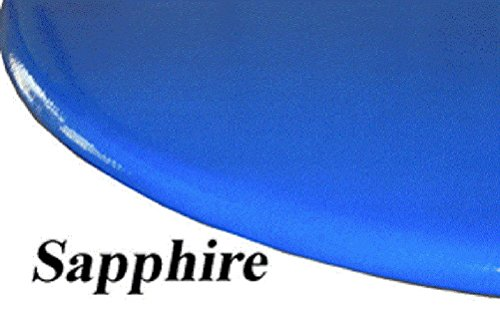 (Fitted Round Elastic Edge Tablecloth High Lustre Lacquer Look Vinyl Table Cover fits 36