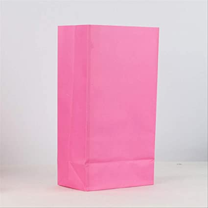 50pcs Bolsa de papel Kraft Colorido sin mango Paquete de ...