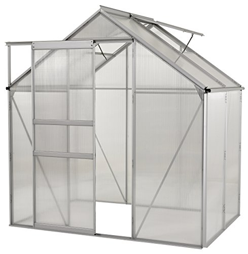 (Portable Greenhouses for outdoors | 6 X 8 Greenhouse | Sunroom | Large Green House for plants |Aluminum Patio greenhouse plastic panels |Glass Greenhouse kits |Large greenhouses for outdoors by Ogrow )
