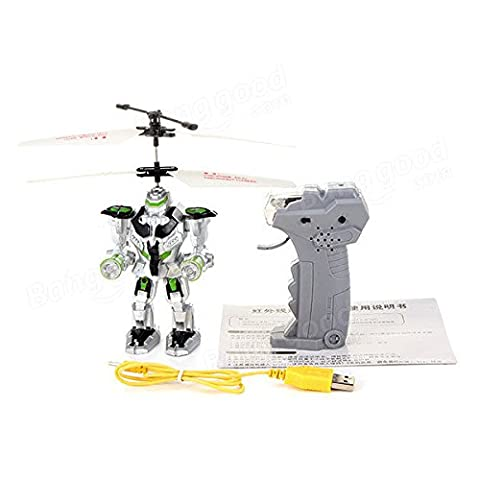 SICA Remote Control RC Flying Gravity Sensing Robot Aircraft Toy Gift ( White and Orange ) - Case Front End Loaders