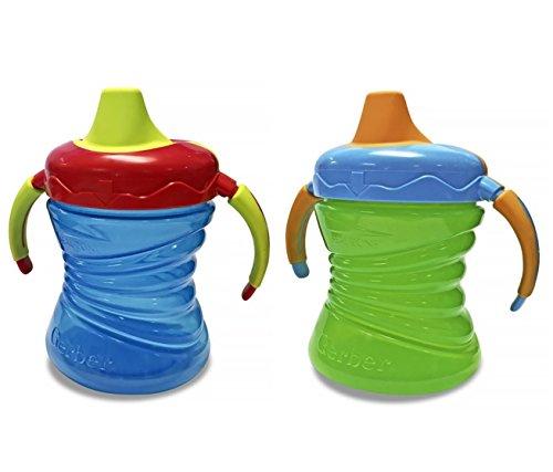- Gerber Graduates 7 Ounce Fun Grips Trainer Cup, 2 Pack, Blue/Green