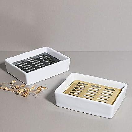 Amazon.com: E.Palace - Jabonera de cerámica, soporte de ...