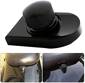 Aluminum Seat Bolt Tab Screw Mount Knob Cover For Harley Touring 96-up 18 Black