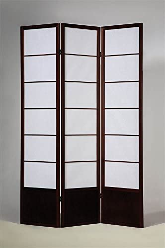 ADF 3-Panel Room Divider in Espresso Finish
