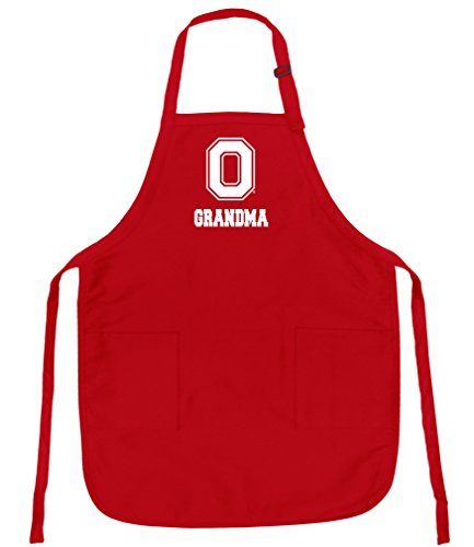 Broad Bay Ohio State Grandma Aprons Deluxe OSU Grandmother Apron ()