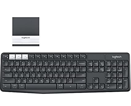 8b17393350b Image Unavailable. Image not available for. Color: Logitech K375s Keyboard  - Wireless Connectivity - Bluetooth/RF - Graphite, Off White
