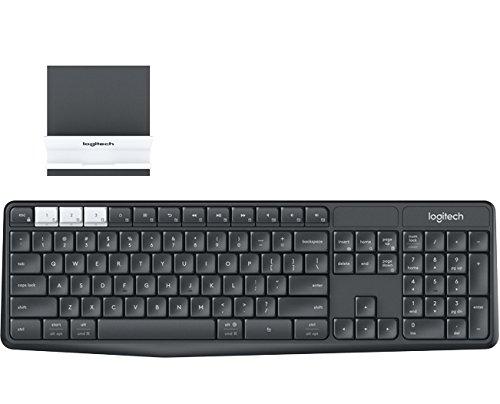 Logitech K375s Keyboard - Wireless Connectivity - Bluetooth/RF - Graphite, Off White