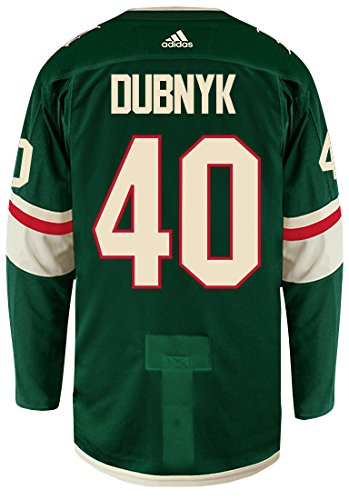 best service 99546 2b91f Devan Dubnyk Minnesota Wild Adidas Authentic Home NHL Hockey Jersey