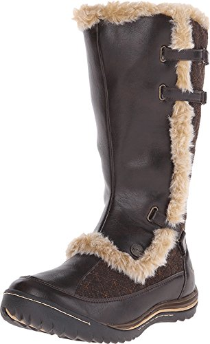 Jambu Women's Artic-Vegan Snow Boot, Dark Brown, 7.5 M US