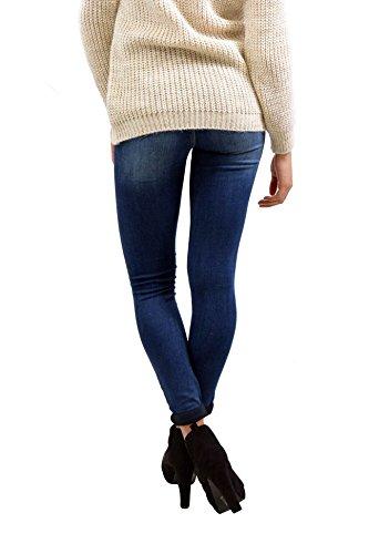 VILLAGGIO Jeans Denim Slim Aderenti Pantaloni Abbigliamento Moda Donna