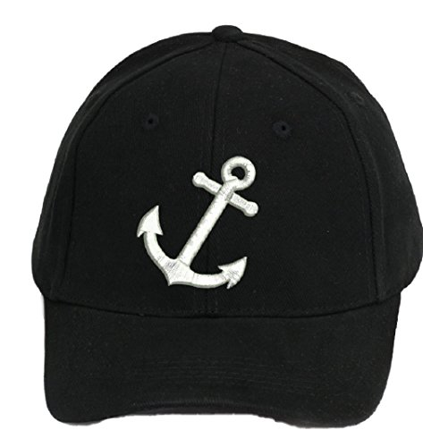 4sold 100% algodón Ancient Mariner, Capitán Cabin Boy tripulación First Mate Yachting Gorra de béisbol inscripción letras negro blanco Anchor