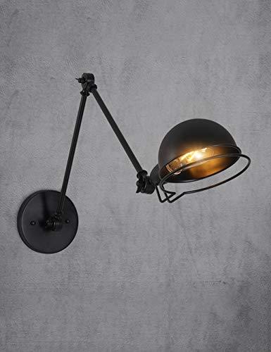 (Telescopic Rocker Wall Light, Industrial Folding Retro Wall Lamp, Dining Room Bedroom Bedside Lamp, Black Three Optional (Design : B))