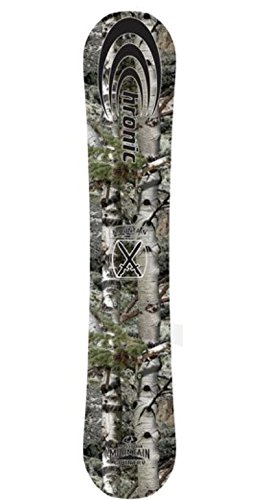 Chronic Mossy Oak ATV All Mountain Snowboard - Wood Core Metal Wrapped Edges P-Tex Sidewalls Sintered Bases Easy Carving Strong Durable Material Yet Comfortable Ride For Men And Women of All Ages(151) (Park Winter Oaks)