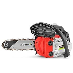 Greencut GSX250X-10 - Motosierra de gasolina, 25.4cc - 1.4cv, espada 10