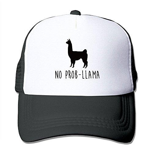 b3a9f0e2 ONE-HEART HR No Prob Llama Adult's Baseball Cap Mesh Adjustable Trucker Hat  for Men