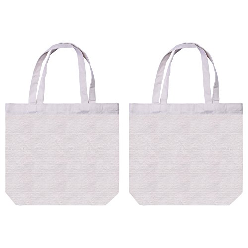 "BCP 2pcs 15.5x13x4"" Beige Color Washable and Reusable Canv"