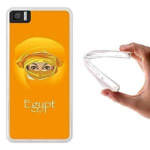 Funda Bq Aquaris M4.5 / A4.5, WoowCase [ Bq Aquaris M4.5 / A4.5 ] Funda Silicona Gel Flexible Mujer Egipcia, Carcasa Case TPU Silicona - Transparente
