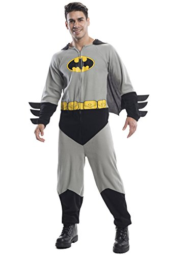 Rubie's Men's Batman One-Piece Costume, Black, Standard ()