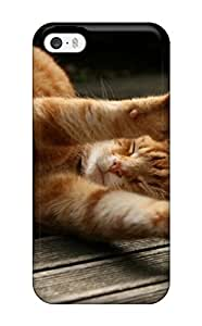New Style 6925613K60858734 Perfect Fit Cat Stretching Case For Iphone - 5/5s
