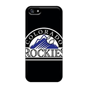 Fashionable Style Case Cover Skin For Iphone 5/5s- Baseball Colorado Rockies 1
