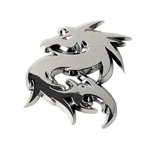 SUMEX LOG1614 Silver China Dragon Car Emblem (2x2 inches)