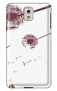 Online Designs Dandelion Brown PC Hard new case for samsung galaxy note 3 purple