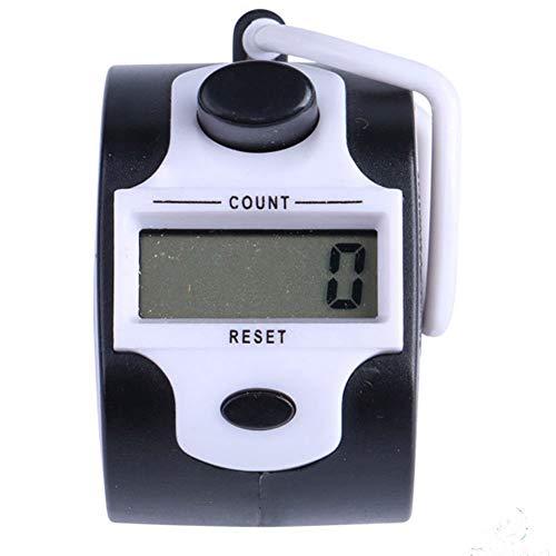(Serveyou Counter Manual Circular Hand Meter Mini LCD Screen Digital Electronic Portable(White))