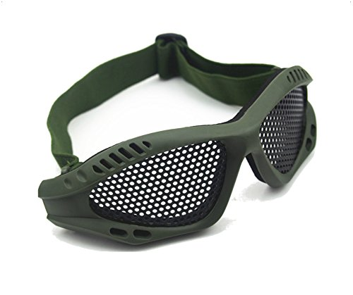 ASX Design Shooting Tactical Airsoft Goggles No Fog Mesh Glasses Protect Eyes - Dark Green Color