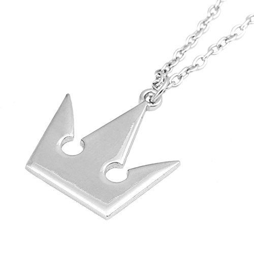 LYLAS Kingdom Hearts II Sora Key Blade Necklace Anime Cosplay Figure Pendant (Crown)