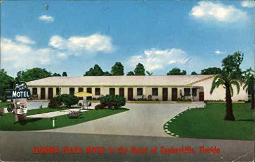 Florida Plaza Motel in the Heart of Zephyrhills, Florida Zephyrhills Original Vintage Postcard