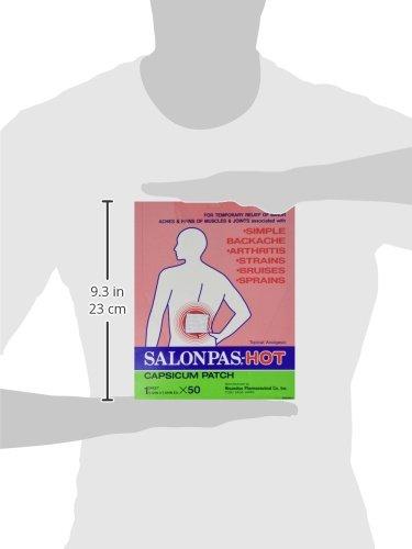 SALONPAS HOT Patch 5.12X7.09 Box of 50 by HISAMITSU AMERICA *****