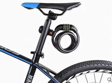 HNMS Cerradura de Bicicleta de montaña Cerradura de Cadena antirrobo de Bicicleta Cerradura de contraseña Cerradura portátil antiacaras Cerradura de Cable de Acero (Cerradura de contraseña): Amazon.es: Deportes y aire libre