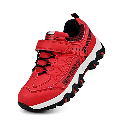 Biacolum Kids Shoes Waterproof Tennis Hiking Sneakers for Boys Girls Red 8.5 M US Toddler